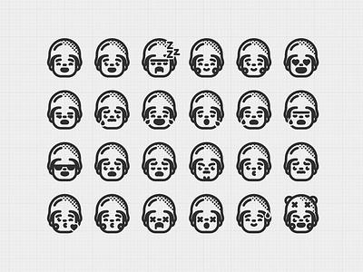 Emoji happy logo head illustration character cartoon icon emoji