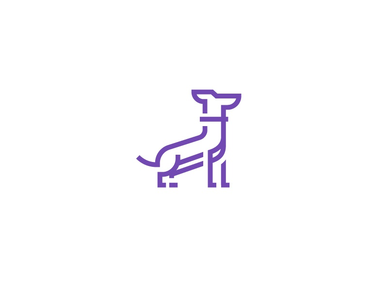 Dog bark symbol icon perro herd monogram logo pet dog