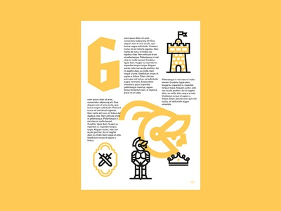Icon Layout logo helmet yellow icon type castle sword armor tale knight medieval