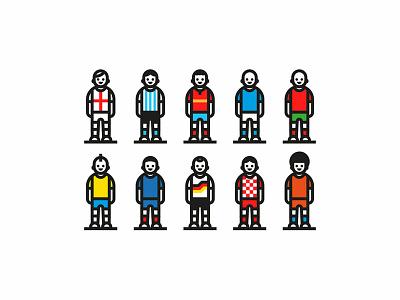 Football players character sport vector brand logo worldcup futbol soccer desgin goal players icon illustration