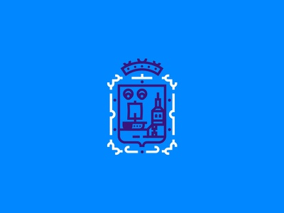 Santander Concept Brand icon cantabria santander brand identity corporate logo shield city redesign