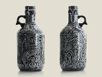 Handmade doodle on Beer Bottle