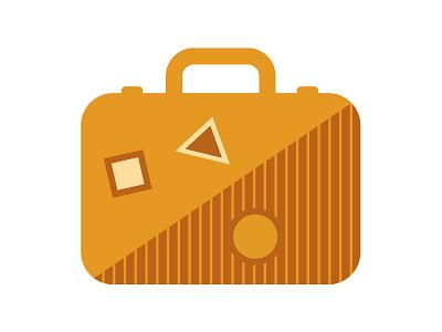 Suitcase illustration iconography icon suitcase bag travel