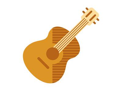 Guitar illustration icon iconography guitar