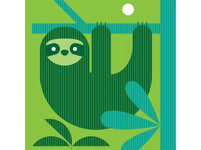 Costa Rica Sloth illustration iconography icon environment nature sloth costa rica