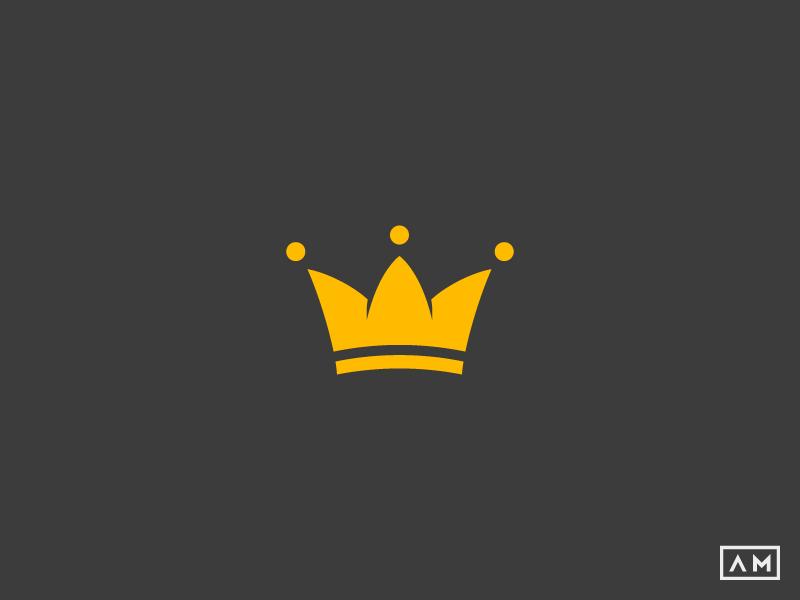 kings crown logo by alexandru molnar dribbble