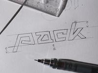 Pack - Wordmark / Logotype Sketch