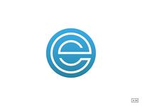 E - Logo Design Symbol Mark Lettermark Monoline