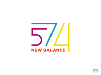 New Balance 574 Lettermark Design Colors