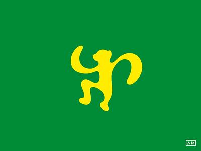Monkey Logo Design Symbol Mark action mark symbol icon climb branding sport movement monkey animal logodesign logo