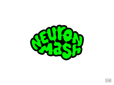 Neuron Mash Logo Artisanal Craft Beer brain craft beer neuron type logotype organic mark logodesign logo craft beer branding