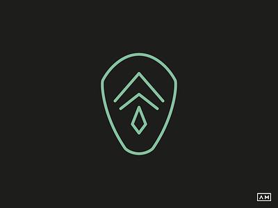 Persona Mask - Logo Design / Lineart mask monoline badge face modern minimal mark logodesign logo brand lineart linear art