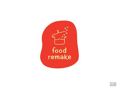 Food Remake Logo Design food logo design food branding food visual identity line art logo logo design logodesign lineart logo monoline logo lineart branding lineart brand organic logo design brand identity logo design