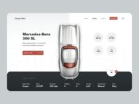 Vintage Rides 300 sl mercedes-benz iconic dealership cars vehicles vintage landing page ecommerce app design clean ui minimalist web app typography grid layout ux design ui design