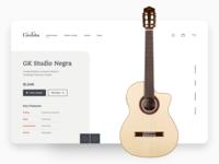 Cordoba - Product Page cordoba flamenco guitar landing page brand redesign ecommerce app design clean ui minimalist web app typography grid layout ux design ui design