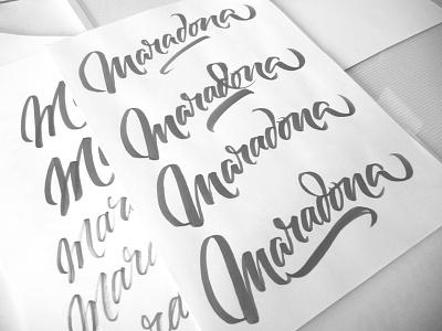 Maradona Agency brushpen lettering type custom calligraphy brush tombow fabercastell maradona agency