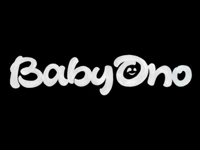Baby Ono ono baby poland joluvian maker lettering brus calligraphy