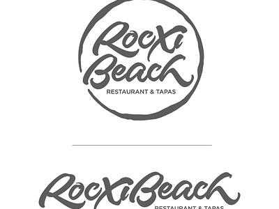 Rocxi Beach espana spain barcelona bcn restaurant beach rocxi joluvian maker lettering brus calligraphy