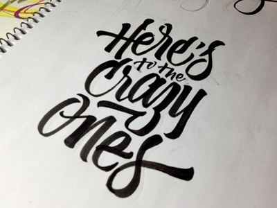 creating a poster poster calligraphy leterring brushpen here crazy