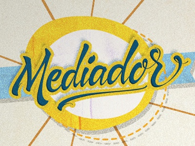 Mediador typography lettering calligraphy brushpen vector basebal mediador