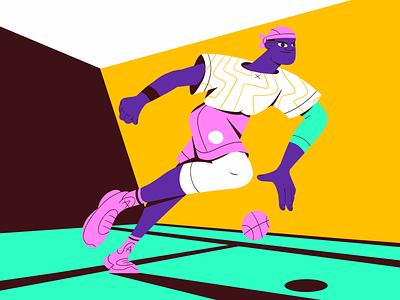 The Playmaker ai hoop basketball shot dribbble digital character flat design graphic illustration vector