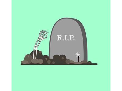 RIP rest in peace dirt flower cute design skelton dead tombstone graveyard rip