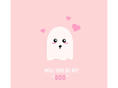 Will you be my boo? 👻 spooky pink love cute design ghost boo