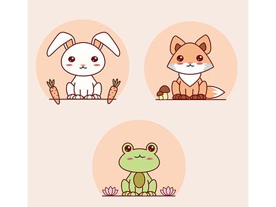 Kawaii Animals kawaii animals cute animals cute design fox bunny frog