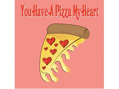 🍕 lovers cards love kawaii food pizza puns valentine