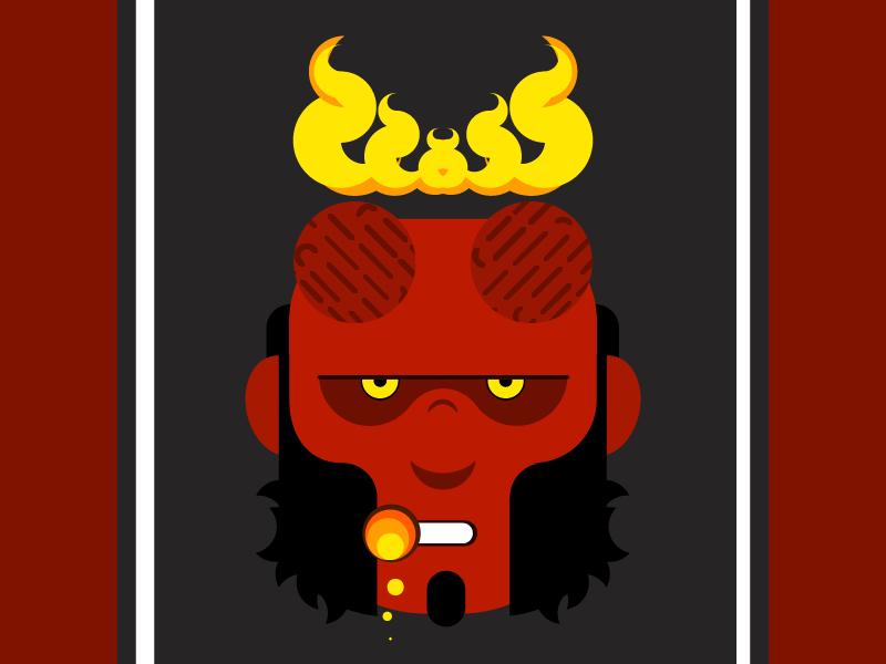 Hellboy flat hellboy