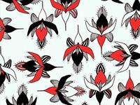 Botanical black & red Pattern