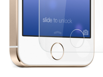 iPhone 5S accessory product image iphone product box illustration champagne gold pure glass ocdesk