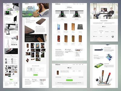 OCDesk new web site ocdesk white clean minimal e-commerce store shop shopify header website site responsive