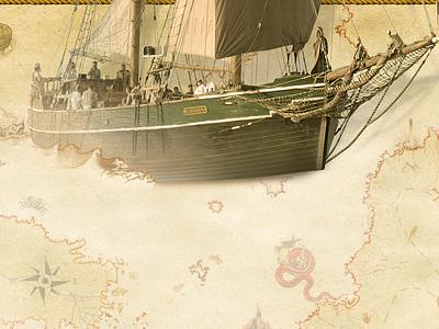 s/v Kajsamoor old map ancient boat ship drawing photoshop photo manipulation