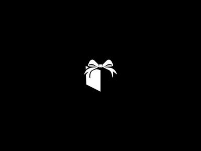 Mini Gift Box box vector icon present gift surprise black and white