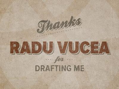 Thanks for drafting thanks draft drafting typografy vintage grunge thx