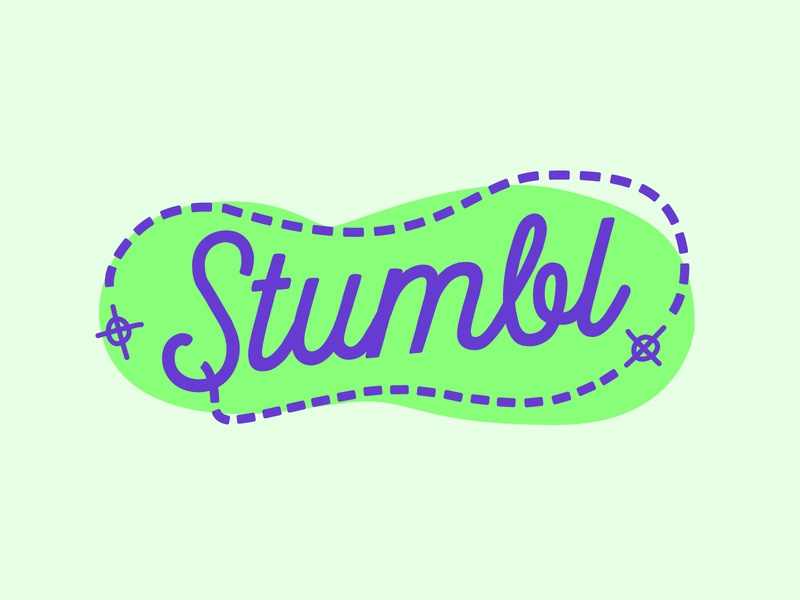 Stumbl purple green concept stumbl stumble logodesign logo branding haus of west haus of west