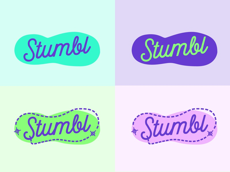 Stumbl Colour Variations colourlovers purple walking feet foot clan stumble stumbl illustration logodesign logo branding haus of west