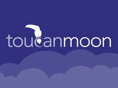 Toucanmoon Logo Design clouds print toucanmoon moon toucan logodesign logo