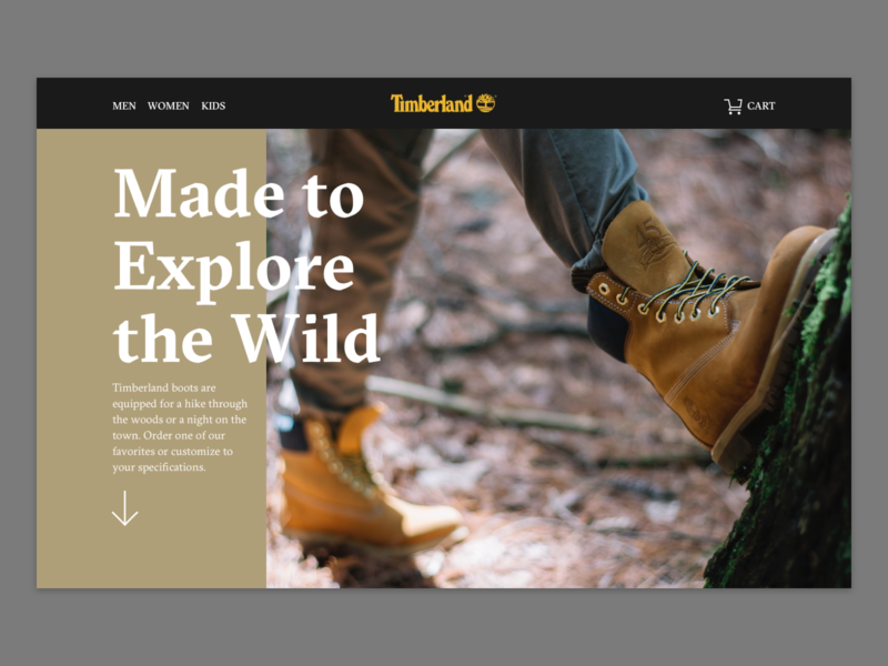 Daily UI #3 –Landing shoes home page landing page daily ui 003