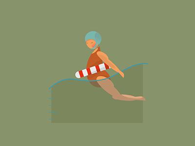Swiming dribble