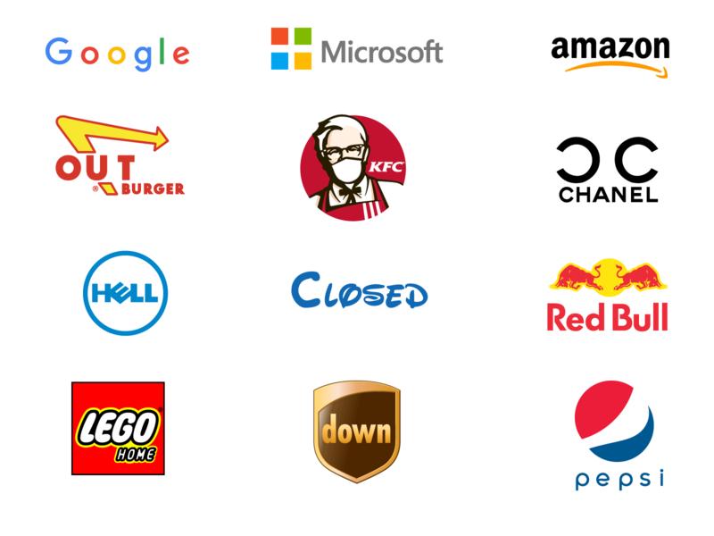 COVID19 & Social Distancing impact brand logos