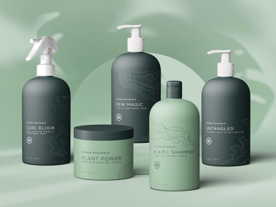 Sienna Naturals Packaging hair haircare shampoo packaging shampoo design cosmetic packaging topography conditioner shampoo packaging design packaging branding