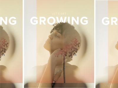 Pasteboard layout design flowers email design gradient branding
