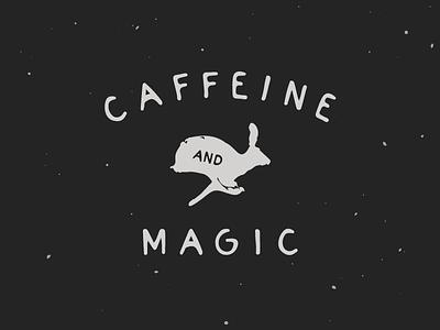 Caffeine Camp Flag illustration caffeine magic rabbit bunny
