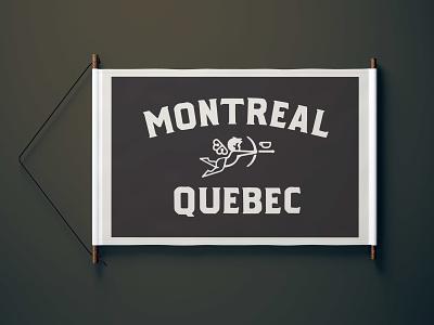 Montreal Flag camp flag canada quebec montreal coffee flag