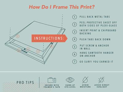 Print Framing Instructional layout list ui checklist tape list instructions