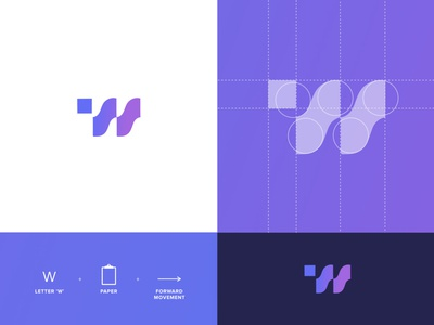 Work Work Work vector design mark brand data tech branding logo