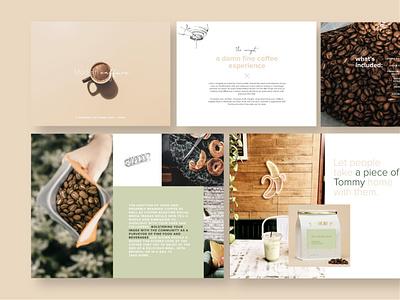 Modern Caffeine keynote coffee layout pitch deck design pitch deck