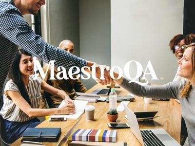The Maestro typography wordmark brand tech branding logo